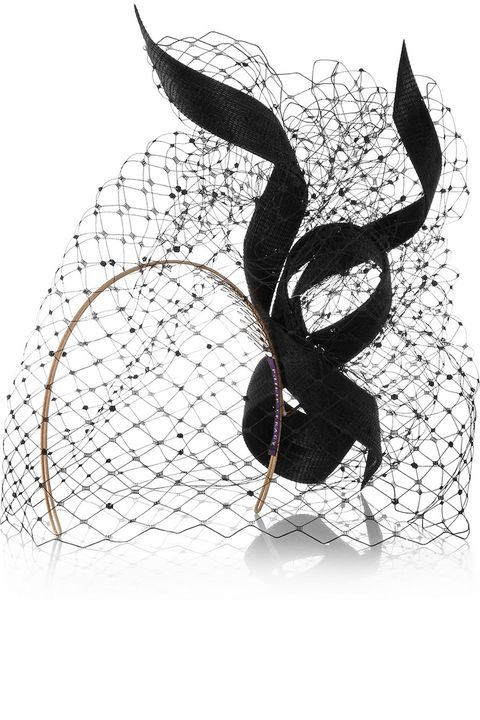"<p><strong>Philip Treacy</strong> hat, $985, <a href=""http://www.net-a-porter.com/us/en/product/559580"" target=""_blank"">net-a-porter.com</a>.</p>"