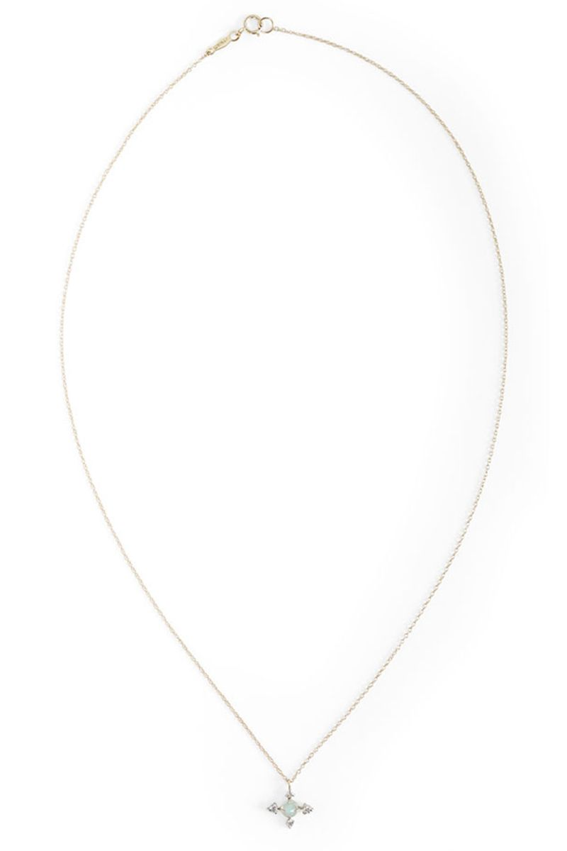 "<p><strong>Catbird </strong>necklace, $664, <a href=""https://catbirdnyc.com/shop/product.php?productid=20149"" target=""_blank"">catbirdnyc.com</a>. </p>"