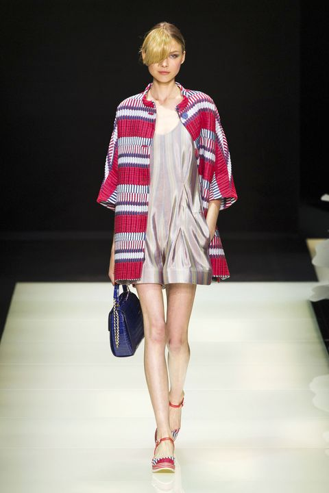 Clothing, Fashion show, Sleeve, Human leg, Shoulder, Textile, Runway, Joint, Outerwear, Style,