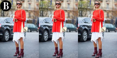 Clothing, Eyewear, Footwear, Vision care, Leg, Sunglasses, Outerwear, Red, Hat, Fashion accessory,