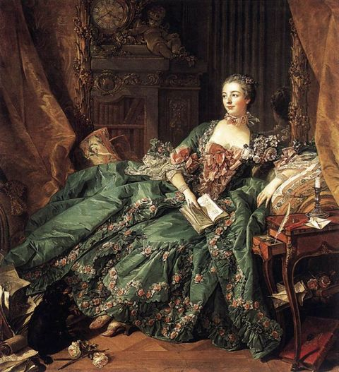<p><strong>Known For: </strong>The mistress of King Louis XV of France.</p><p><strong>Signature Style: </strong>Pastel rococo confections covered in bows and flowers that make Marie Antoinette's outfits look bland.<span></span></p><p><strong>Why We Love Her: </strong>She was the patron of many artists and philosophers, including Voltaire, and wielded considerable influence over the King (she helped negotiate an alliance between France and Austria).</p>