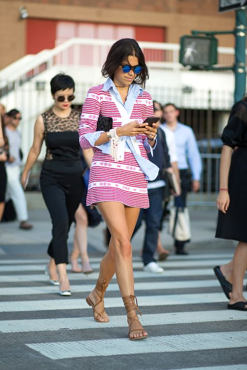 <p>Miu Miu's Fall collection was a winner worn by many over the month—but our top pick is on Leandra Medine in New York.</p>