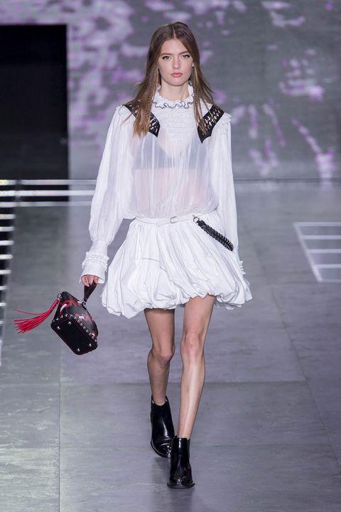 Clothing, Footwear, Dress, Fashion accessory, Pink, Style, Fashion model, Jewellery, Street fashion, Fashion show,