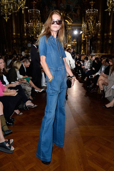 <p><strong>What: </strong>Stella McCartney</p><p><strong>Where:</strong> Stella McCartney Spring 2016 Show</p><p><strong>Why: </strong>It's rare to see something as relaxed as a denim jumpsuit in Paris, but it definitely works for this supermodel.</p>