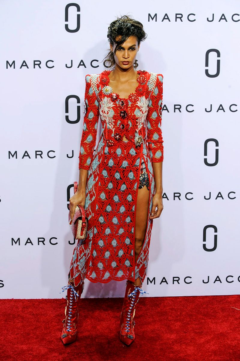 <p>When Marc Jacobs does Americana it may have a '30s mood but it comes complete with an ultra-high slit and killer boots.</p>