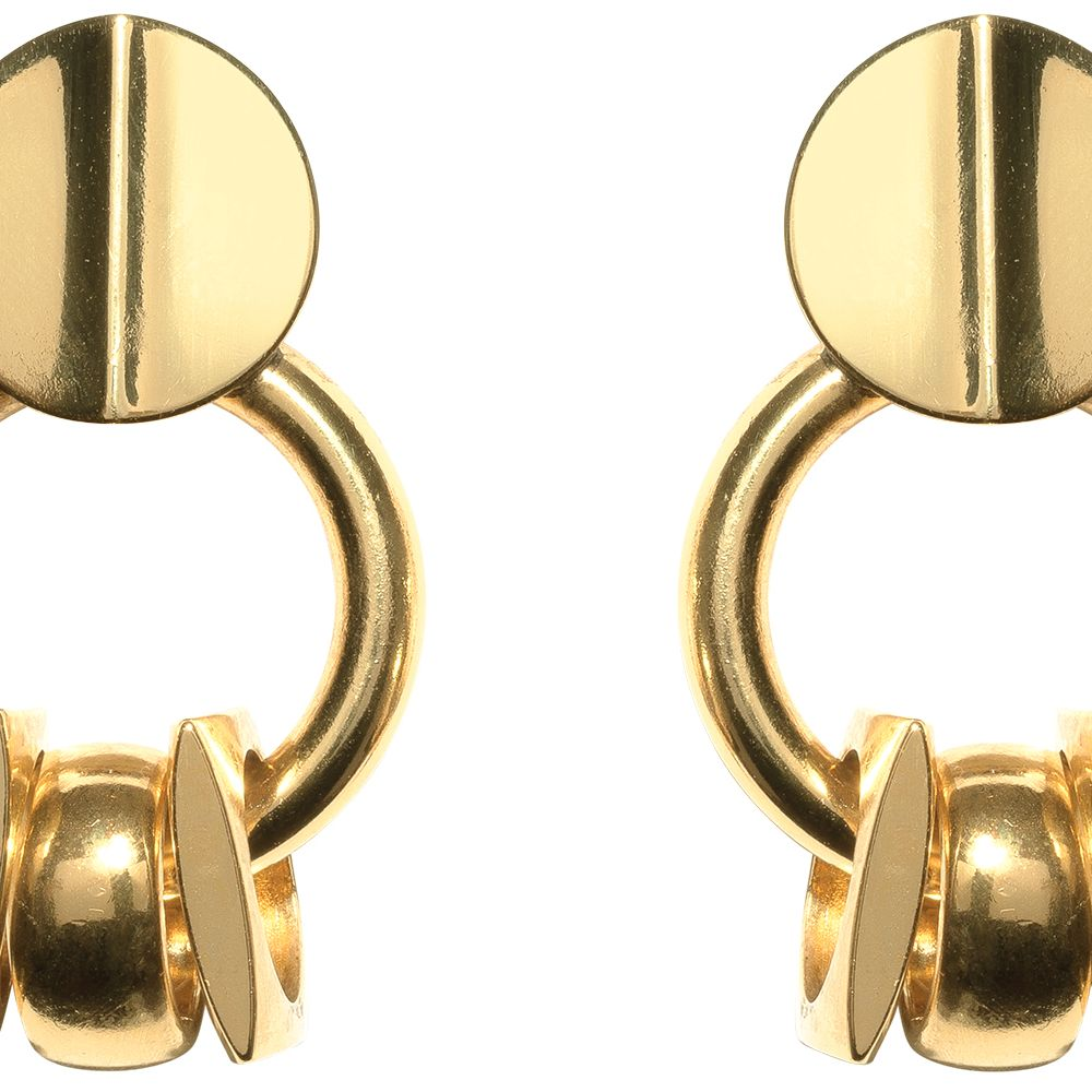 "<p><strong>Lizzie Fortunato </strong>earrings, $150, <a href=""https://shop.harpersbazaar.com/Designers/L/Lizzie-Fortunato/Retro-Gold-Earrings-5722.html"" target=""_blank"">shopBAZAAR.com</a>.</p>"