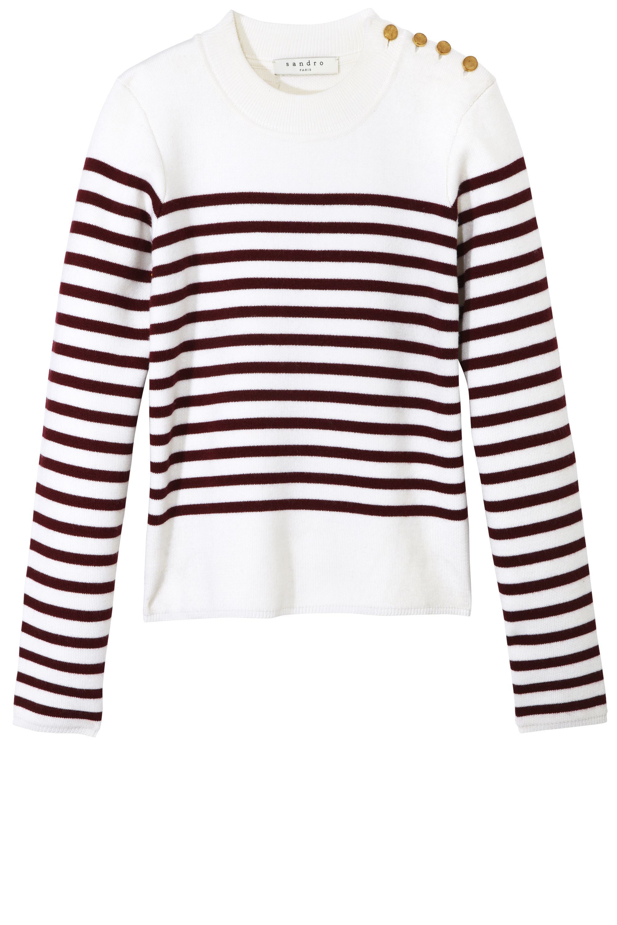 """<p><strong>Sandro</strong> sweater, $250, <a href=""""http://us.sandro-paris.com/"""" target=""""_blank"""">us.sandro-paris.com</a>.</p>"""