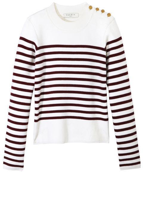 "<p><strong>Sandro</strong> sweater, $250, <a href=""http://us.sandro-paris.com/"" target=""_blank"">us.sandro-paris.com</a>.</p>"