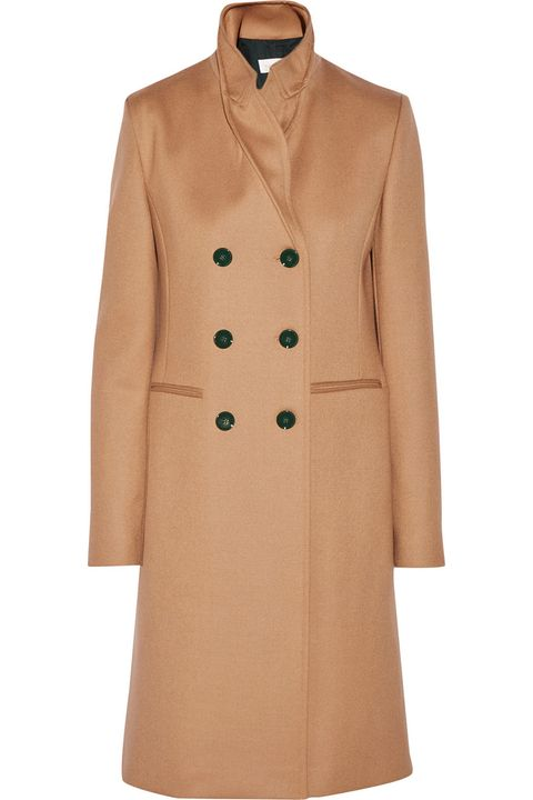 "<p>A double breasted version with high neck detail is a standout. </p><p><em>Victoria Beckham coat, $3,800, </em><a href=""http://www.net-a-porter.com/product/571453/Victoria_Beckham/double-breasted-wool-coat"" target=""_blank"">net-a-porter.com</a>. </p>"