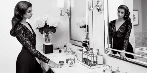 Black-and-white, Dress, Beauty, Fashion design, Fashion, Monochrome photography, Photography, Room, Little black dress, Photo shoot,