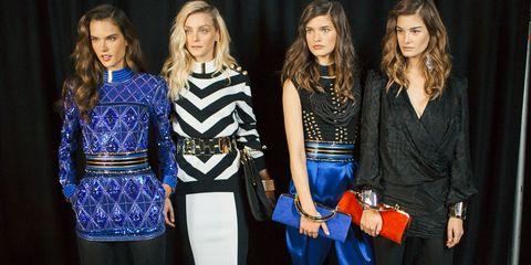 Style, Electric blue, Bag, Fashion, Cobalt blue, Waist, Blond, Long hair, Belt, Fashion design,
