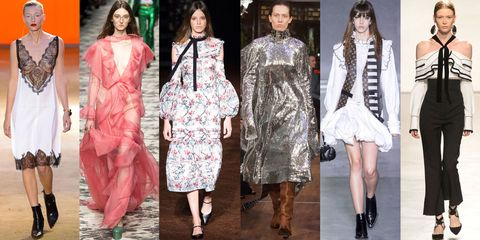 A Step Away From Minimalism Means Runways With High Impact Trends The Modernization Of Retro Silhouettes To Spanish Ruffles And Pajamas As Daywear