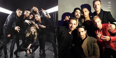 d6eae8132a0b5 Balmain for H&M Fashion Show in New York - Backstreet Boys Reunite ...
