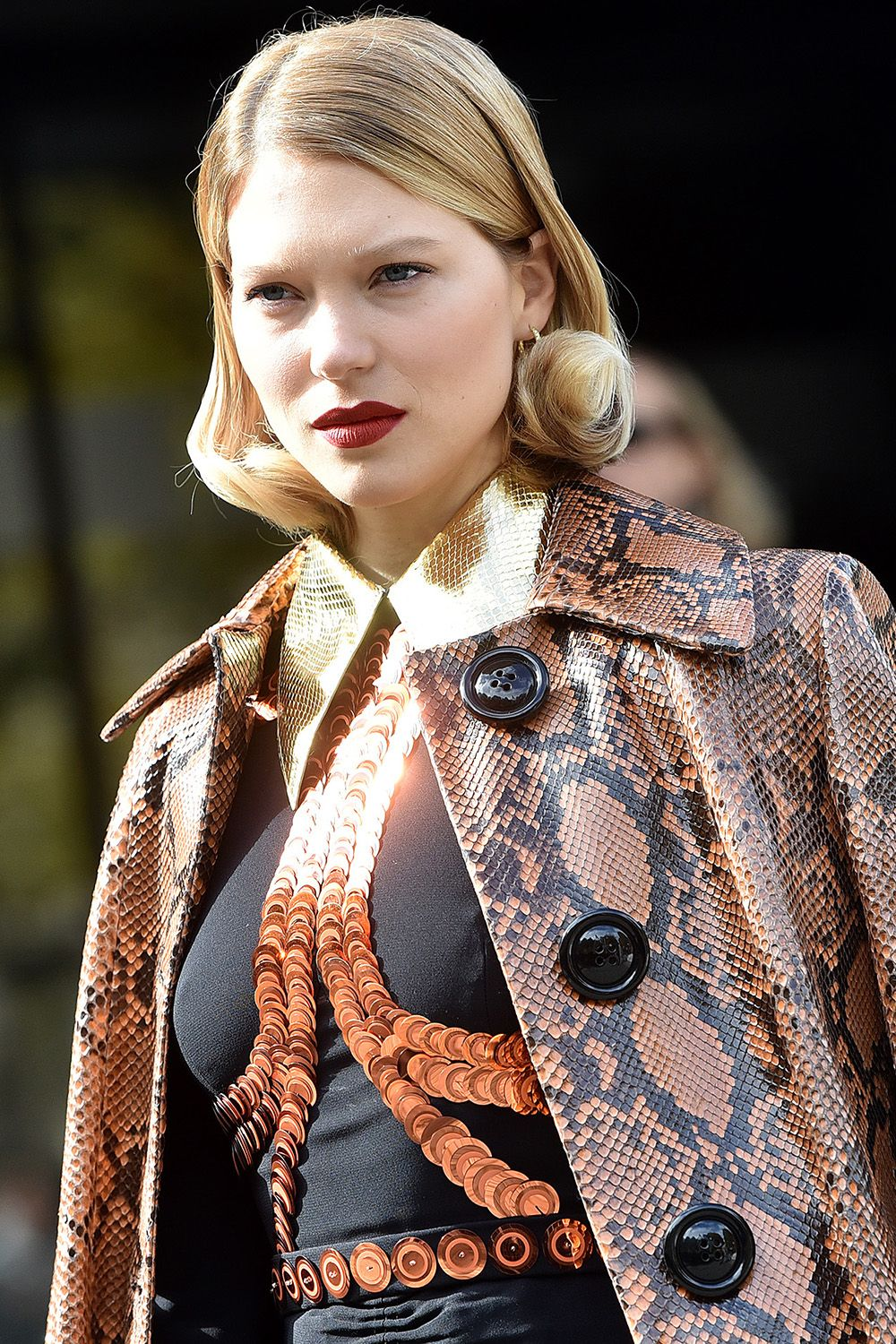<p>I was in awe when I saw Lea Seydoux from the Miu Miu SS16 show— I would love to try a hairdo like this.</p>