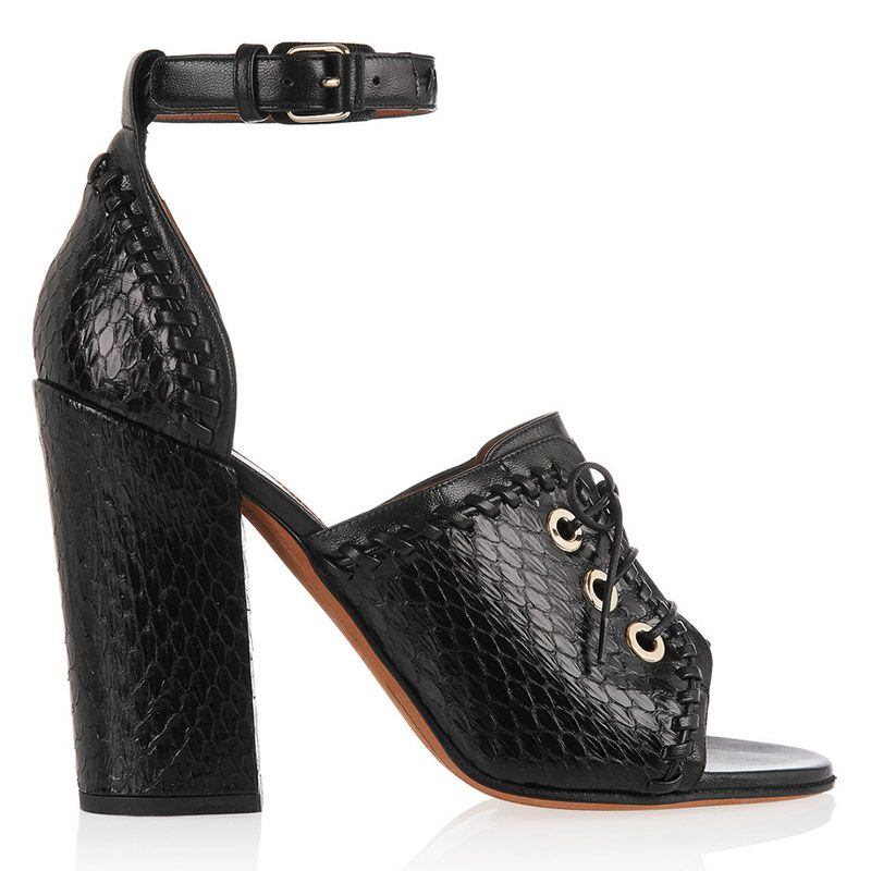 "<p>I love a cute work-to-play heel.</p><p><em>Givenchy heels, $1,650, <a href=""http://www.net-a-porter.com/us/en/product/542042/Givenchy/nekka-sandals-in-elaphe-and-leather"" target=""_blank"">net-a-porter.com</a>.</em></p>"