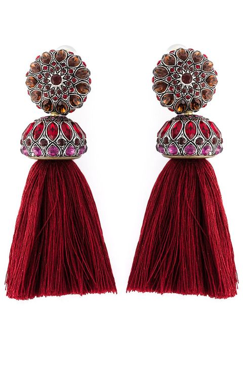 "<p>These are perfect for a glam night out in a black tie dress or even just to jazz up jeans and a t-shirt.<br></p><p><em>Lanvin earrings, $950, <a href=""https://shop.harpersbazaar.com/Needs-Attention/TASSEL-EARRINGS-3901.html"" target=""_blank"">shopBAZAAR.com</a>.</em></p>"