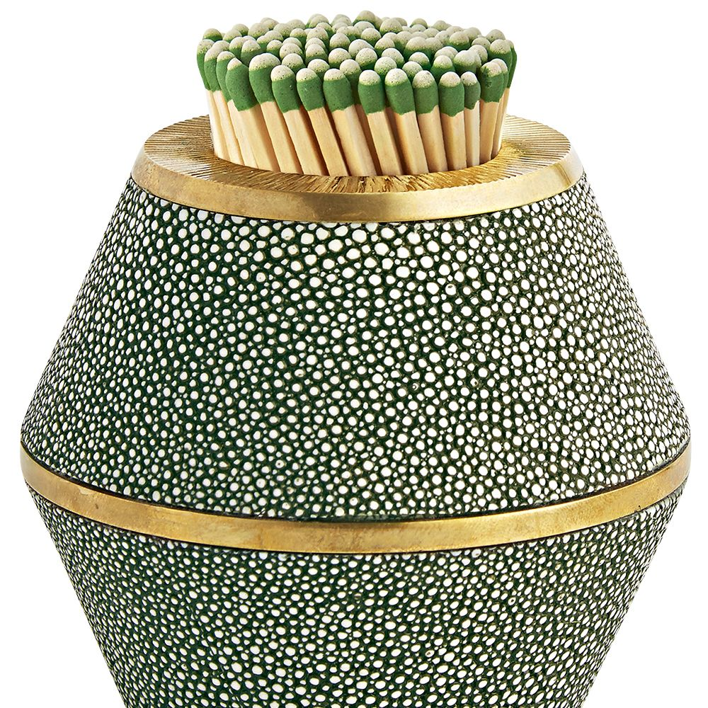 """<p>""""Aerin Lauder's home collection is in the best taste. I have her shagreen pieces all over.""""</p><p><strong>Aerin Lauder </strong>match striker, $330, <a href=""""http://www.aerin.com/"""" target=""""_blank"""">aerin.com</a>.</p>"""