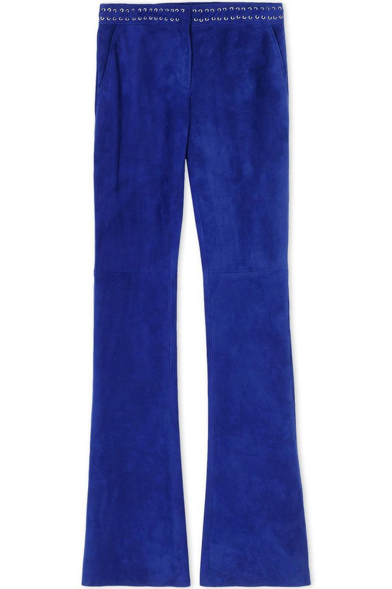 "<p> <strong>Emilio Pucci </strong>trousers, $3,050, <strong><a href=""https://shop.harpersbazaar.com/designers/e/emilio-pucci/flared-suede-trousers-5651.html"" target=""_blank"">shopBAZAAR.com</a></strong>.  </p>"