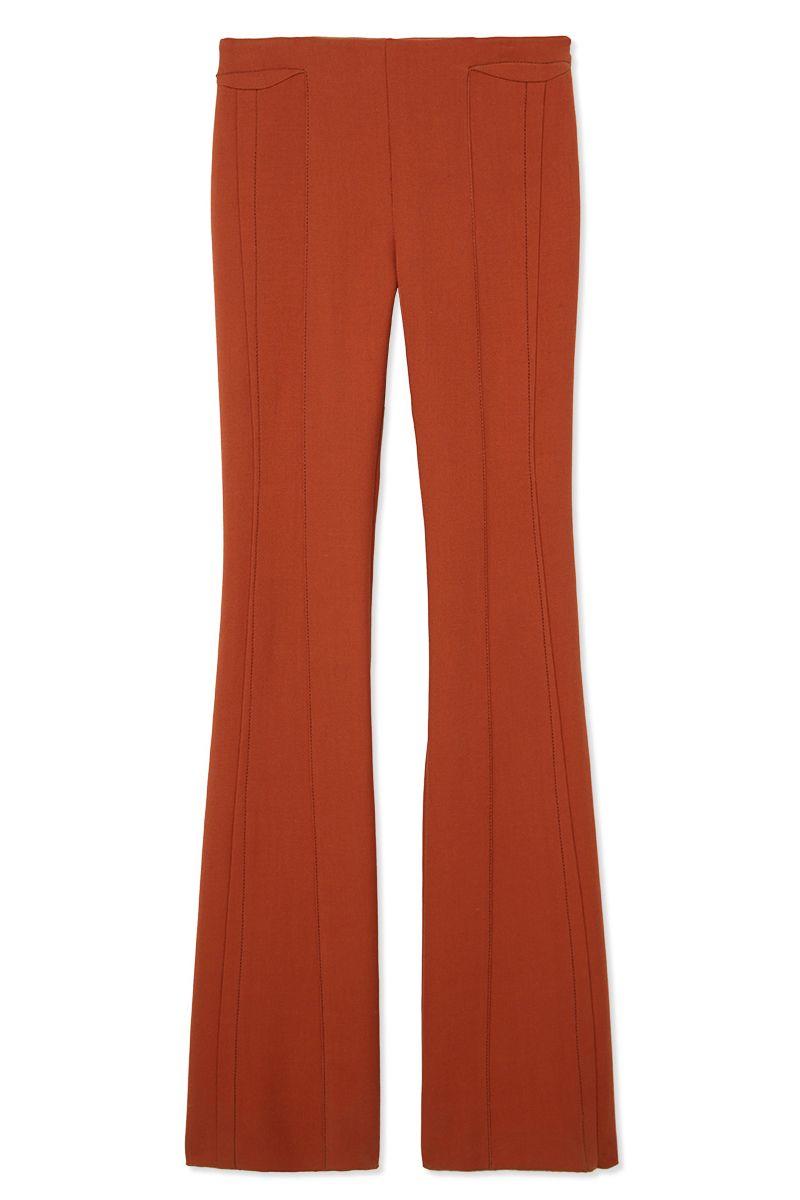 """<p> <strong>Derek Lam </strong>trousers, $990, <strong><a href=""""https://shop.harpersbazaar.com/designers/derek-lam/flare-leg-trouser/"""" target=""""_blank"""">shopBAZAAR.com</a></strong>.  </p>"""