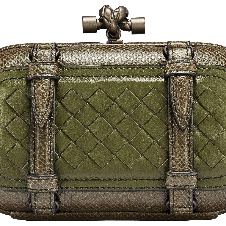 <p><strong>Bottega Veneta</strong> clutch, $1,750, 800-845-6790.</p>