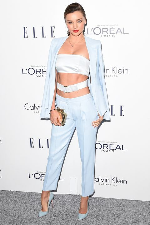 <p><strong>What: </strong>Calvin Klein Collection</p><p><strong>Where:</strong> <em>Elle</em> Women In Hollywood Awards</p><p><strong>Why: </strong>We never realized a belly strap could be so chic—style setters take note. </p>