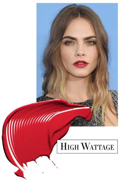 "<p>Frame bold red lips with loose romantic hair. Use <a href=""http://pantene.com/en-us/product/curl-shaping-gel"" target=""_blank"">Pantene Pro-V Curl Shaping Gel</a> ($6) for soft waves without the frizz.</p><p><strong>Maybelline New York </strong>SuperStay 24 2 Step Lipcolor in All Day Cherry, $10, <a href=""http://www.maybelline.com/"" target=""_blank"">maybelline.com</a>.<span class=""redactor-invisible-space""><br></span></p>"