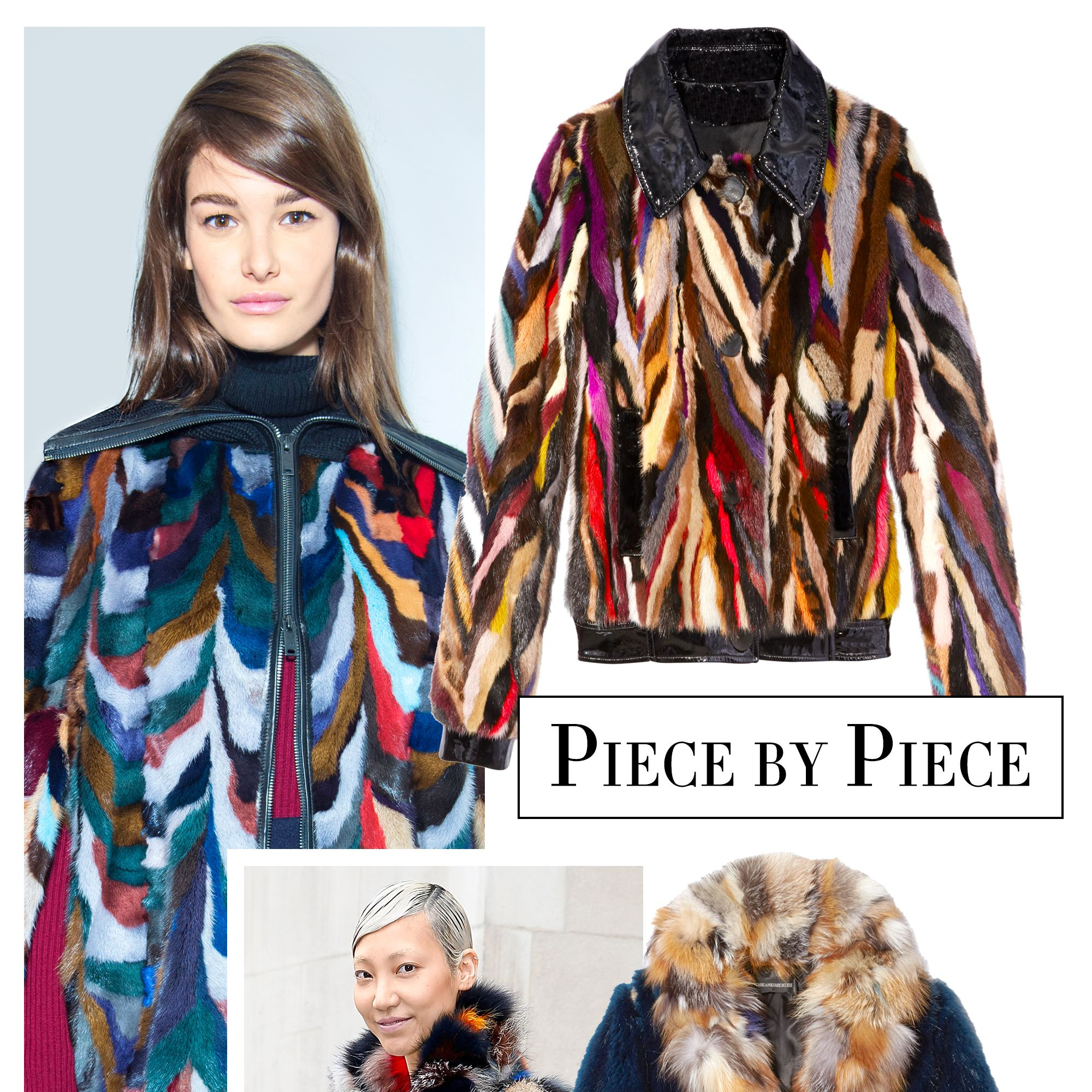 <p>Fur coats (and jackets) bring a flash of fun fit to brighten any wardobe with their multicolored patchwork and shaggy finishes. Wear them with leather leggings and chunky-heeled boots.