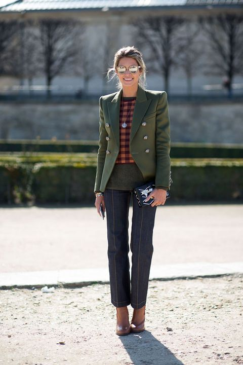 <p>For the woman whose closet has a decidedly masculine edge, a semi-structured blazer and loose-fitting jeans will be her favorite present of the season. Bonus points if the jacket has a vintage, tweed feel. </p>