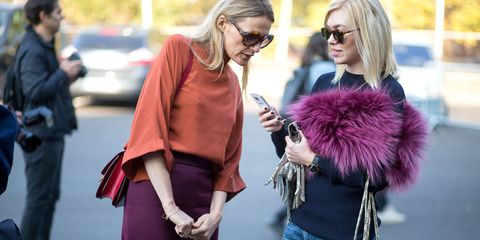 Eyewear, Glasses, Vision care, Outerwear, Fashion accessory, Street fashion, Bag, Sunglasses, Magenta, Fashion,