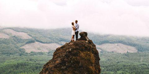 Rock, Mountain, Atmospheric phenomenon, Outcrop, Bedrock, Mist, Adventure, Hiking, Haze, Fog,