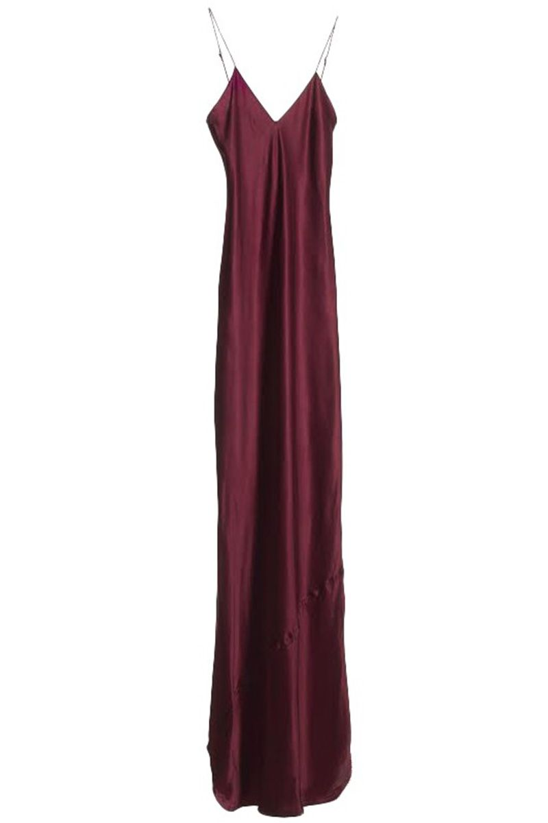 "<p><strong>Nili Lotan </strong>dress, $495, <a href=""http://www.nililotan.com/dresses/maxi-cami-dress-merlot.html"" target=""_blank"">nililotan.com</a>. </p>"