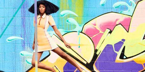 Hat, Purple, Graffiti, Black hair, Art, Thigh, Illustration, Long hair, Fedora, Animation,