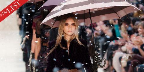 Hairstyle, Umbrella, Street fashion, Fashion, Snapshot, Long hair, Fashion model, Fictional character, Model,