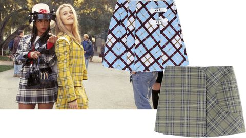 "<p>Invoke your inner Cher and Dionne.</p><p><em>Marc by Marc Jacobs skirt, $335, <a href=""https://shop.harpersbazaar.com/designers/m/marc-by-marc-jacobs/sky-blue-plaid-mini-skirt-5157.html"" target=""_blank"">shopBAZAAR.com</a>; Victoria Beckham Denim skirt, $295, <a href=""https://shop.harpersbazaar.com/designers/v/victoria-beckham-denim/green-plaid-mini-skirt-5150.html"" target=""_blank"">shopBAZAAR.com</a>.</em></p>"