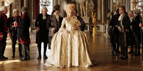 Victorian fashion, Dress, Fashion, Costume design, Gown, Hall, One-piece garment, Curtain, Fur, Fashion design,