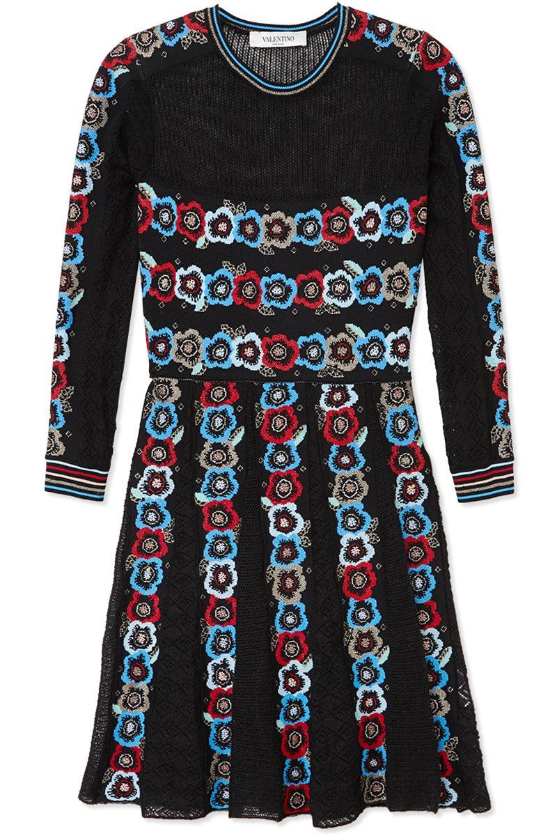 "<p><strong>Valentino</strong> dress, $35, <a href=""https://shop.harpersbazaar.com/designers/v/valentino/floral-knit-dress-5897.html"" target=""_blank"">shopBAZAAR.com</a>.</p>"