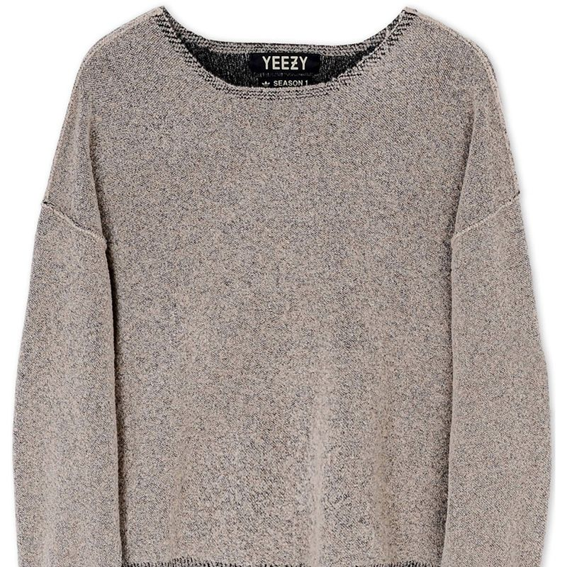 "<p><strong>Adidas X Kanye West</strong> sweater, $1,690, <a href=""https://shop.harpersbazaar.com/designers/a/adidas-x-kanye-west/boucle-knit-sweater-6668.html"" target=""_blank""><strong>shopBAZAAR.com</strong></a>. </p>"
