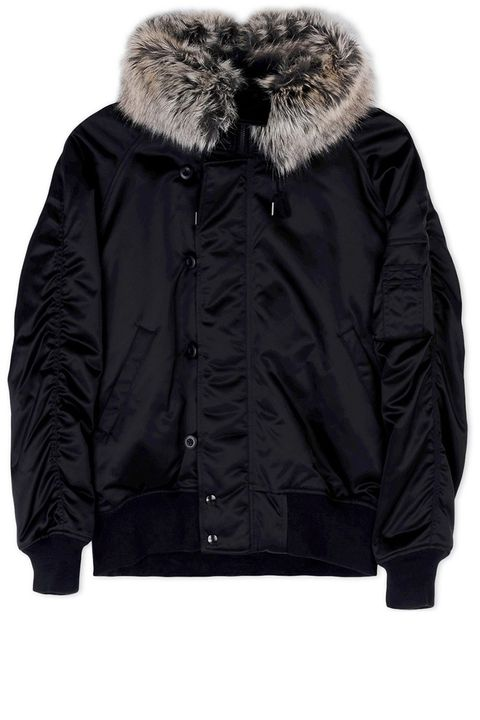 "<p><strong>Adidas x Kanye West</strong> fur-trimmed jacket, $3,250, <strong><a href=""https://shop.harpersbazaar.com/designers/a/adidas-x-kanye-west/faux-fur-bomber-jacket-6663.html"" target=""_blank"">shopBAZAAR.com</a></strong>. </p>"