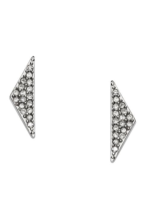 "<p>""I am obsessed with art deco-inspired jewelry. I love these studs, because they make a statement without overpowering an outfit. If you have multiple piercings, you can still work them in with other dainty pieces."" </p><p><em>$44, <a href=""https://ad.doubleclick.net/ddm/clk/298698984;125783203;d"" target=""_blank"">fossil.com</a></em><br></p>"