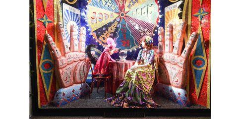Textile, Art, Pattern, Magenta, Visual arts, Nail, Painting, Tradition, Modern art, Artwork,