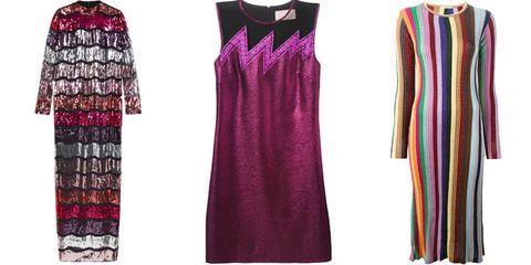 "<p><em>ASOS dress, $198, <a href=""http://us.asos.com/ASOS-Long-Sleeve-Sequin-Stripe-Maxi-Dress/180lw2/?iid=5599423&cid=18761&sh=0&pge=0&pgesize=36&sort=-1&clr=Multi&totalstyles=1027&gridsize=3&utm_source=Affiliate&utm_medium=LinkShare&utm_content=USNetwork.1&utm_campaign=QFGLnEolOWg&link=15&promo=307314&source=linkshare&MID=35719&affid=2135&channelref=Affiliate&pubref=QFGLnEolOWg&siteID=QFGLnEolOWg-stB7hadOhcz86TLIdi8sOA&r=2&mporgp=L0FTT1MvQVNPUy1Mb25nLVNsZWV2ZS1TZXF1aW4tU3RyaXBlLU1heGktRHJlc3MvUHJvZC8."" target=""_blank"">asos.com</a>; Christopher Kane dress, $1,295, <a href=""https://shop.harpersbazaar.com/designers/c/christopher-kane/purple-glitter-metallic-dress-6780.html"" target=""_blank"">shopBAZAAR.com</a><img src=""http://assets.hdmtools.com/images/HBZ/Shop.svg"" class=""icon shop"">; Marco de Vincenzo dress, $944.81, <a href=""http://www.farfetch.com/shopping/women/Marco-De-Vincenzo-striped-knit-dress-item-11179346.aspx?fsb=1&utm_source=polyvore.com&utm_medium=referral&utm_campaign=Dresses%20Group%20E_desktop"" target=""_blank"">farfetch.com</a>.</em></p>"