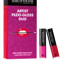 "<p>""This set features two of my favorite colors. I also love a bold lip, and the Plexi-Gloss gives long lasting color and shine without the sticky texture. The miniature size is perfect to throw in your purse and it only costs $20!""</p><p><em>$20, <a href=""http://www.makeupforever.com/us/en-us/make-up/limited-edition/holiday-kit/artist-plexi-gloss-duo?sku=7326"">makeupforever.com</a></em><br></p>"