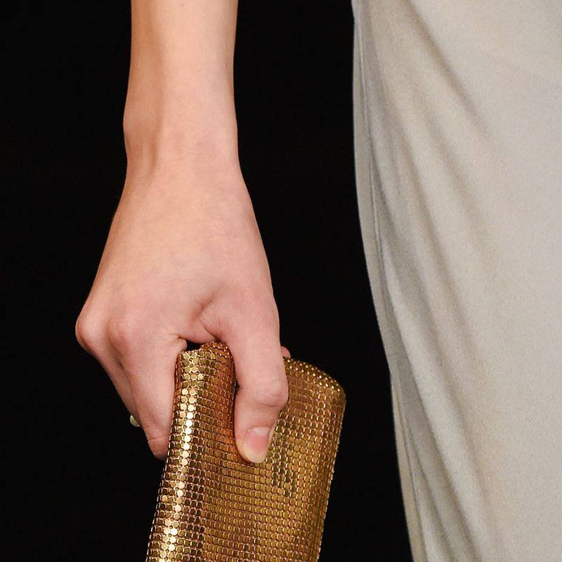 <p>High fashion is embracing tech—your post-modern clutches are now equipped for your iPhone 6. </p><p><em>Pictured: Saint Laurent</em> </p>