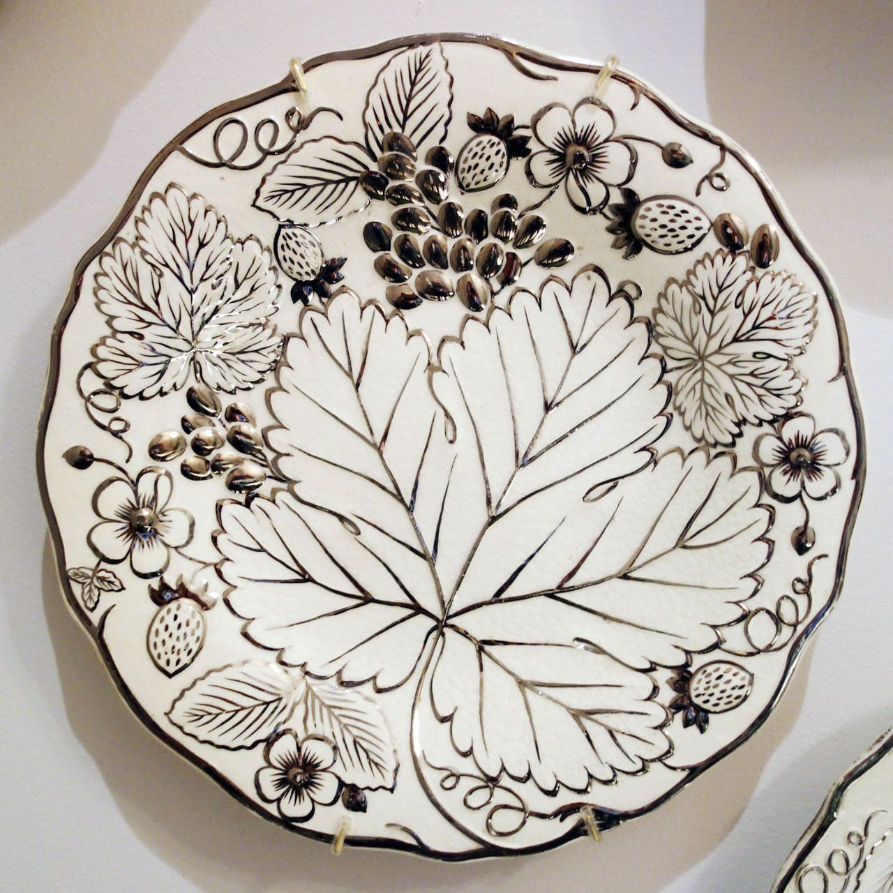 "<p>""I've collected lustreware for years.""</p><p><em>Wedgwood silver lustreware circa 1900, $3,600, <a href=""https://www.1stdibs.com/furniture/dining-entertaining/serving-pieces/wedgwood-silver-lustreware-partial-luncheon-service-circa-1900/id-f_2686312/"" target=""_blank"">1stdibs.com</a>.</em> </p>"