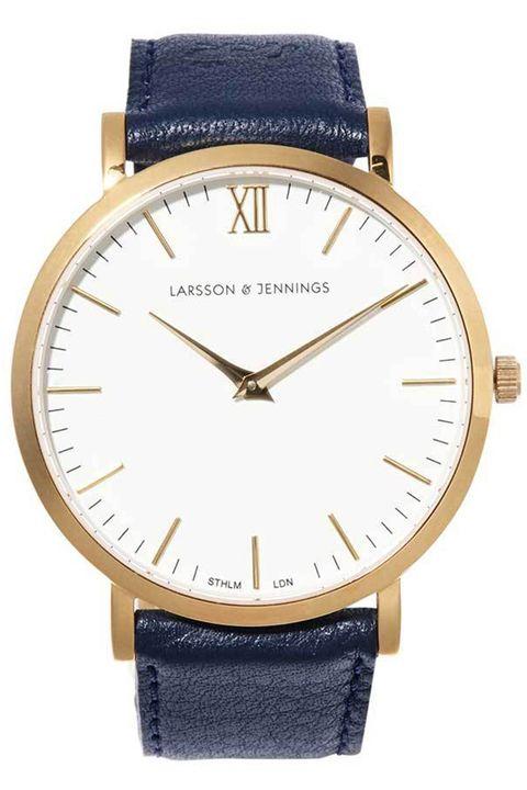 """<p><em><strong>Larsson & Jennings</strong> watch, $360, <a href=""""Larsson&Jennings watch, $360, shopBAZAAR.com"""" target=""""_blank"""">shopBAZAAR.com</a>. </em></p>"""