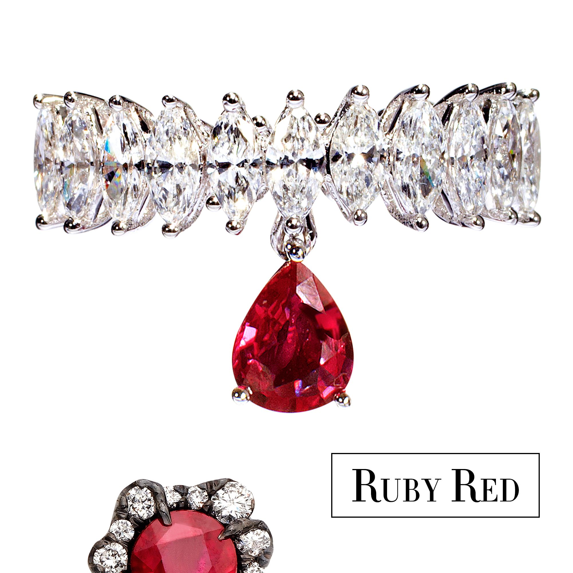 <p>Update your jewelry collection with traditional blood-red rubies. A modern ring or a delicate pair of studs looks both fresh and glamorous.