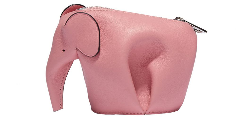"<p><strong>Loewe</strong> purse, $380, <a href=""https://shop.harpersbazaar.com/designers/l/loewe/pink-elephant-mini-purse-6696.html"" target=""_blank""><strong>shopBAZAAR.com</strong></a>.</p>"