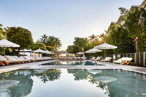 "<p><a href=""http://www.sixtyhotels.com/hotel/nautilus/"" target=""_blank"">The Nautilus</a>, a brand-new hotel in South Beach, features a enormous heated saltwater pool right next to the beach, complete with an underwater sound system, a bar, and super-luxe cabanas.</p>"