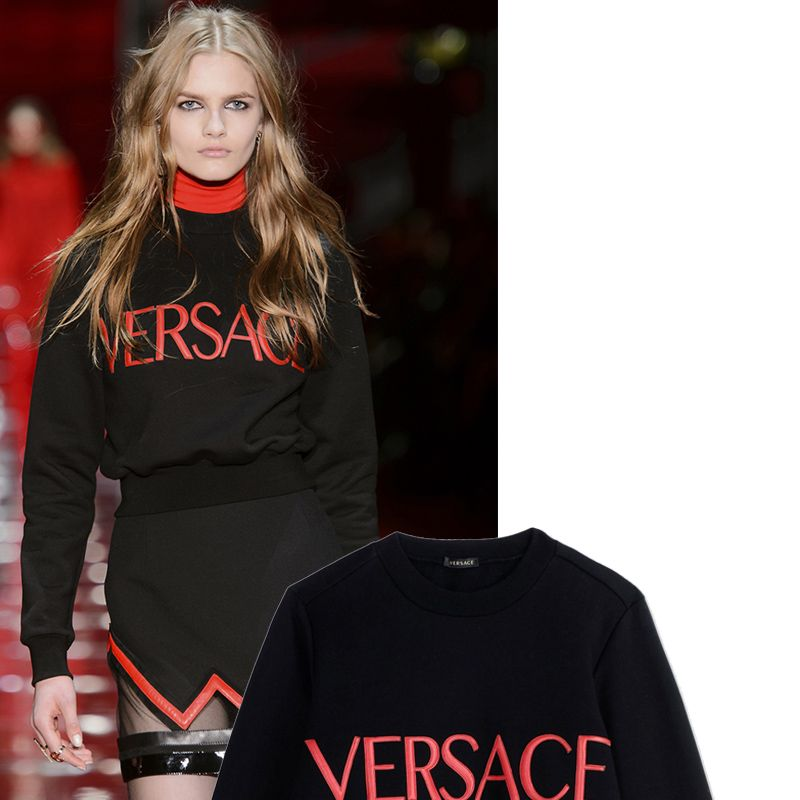 "<p><strong>Versace</strong> pullover, <del>$876</del> $613, <strong><a href=""https://shop.harpersbazaar.com/designers/v/versace/versace-sweatshirt-6349.html"" target=""_blank"">shopBAZAAR.com</a></strong>.</p>"
