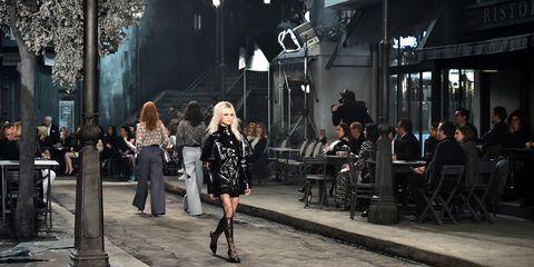 Style, Street fashion, Fashion, Dress, Jacket, Leather, Boot, Fashion model, Fashion design, Fur,